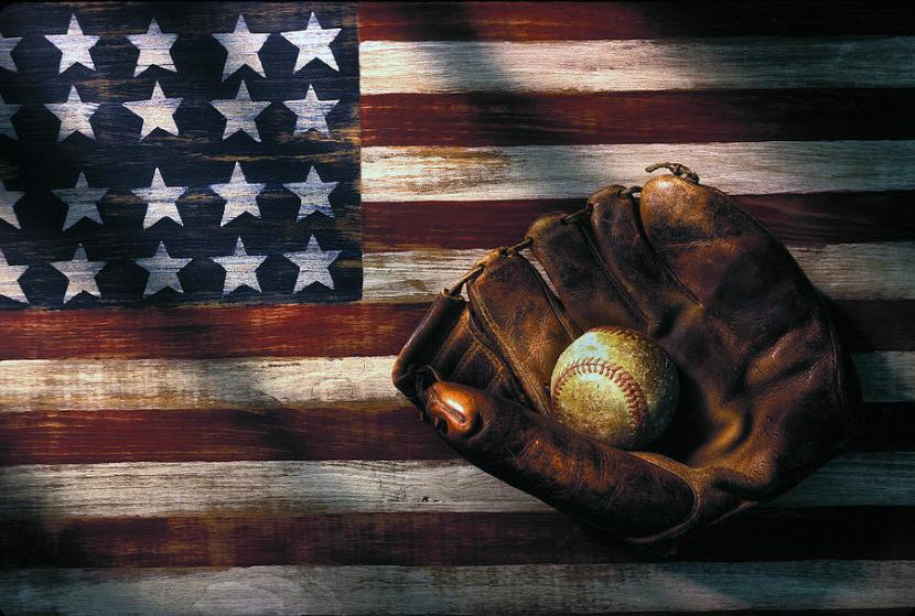 American Flag, baseball