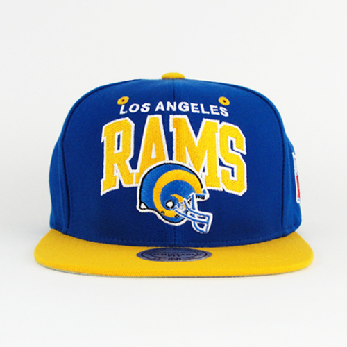 Los-Angeles-Rams-NFL-Team-Colors-Arch-Mitchell-And-Ness-Snapback-With-Gray-Under-Visor-1